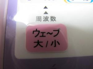 大小ボタン